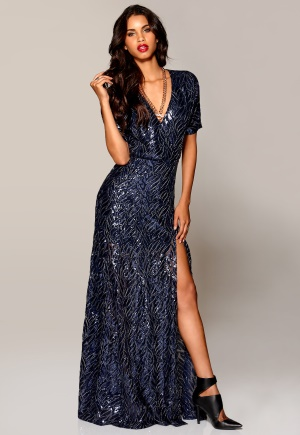 Make Way Eugene Maxi Dress Midnight blue/Patte Bubbleroom.se