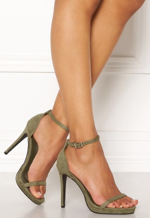 AX Paris Barely There Sandals Khaki Suede 36 thumbnail