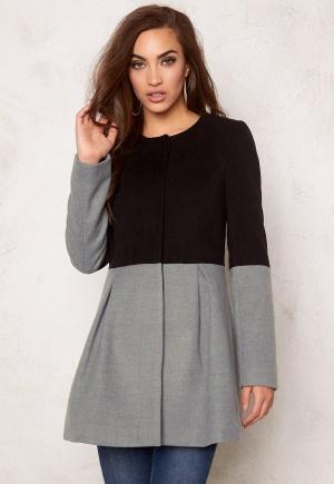 BUBBLEROOM Sensa coat Light grey & black 36