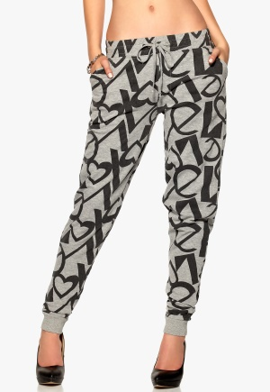Desires May Sweatpants 8242 L Grey Mel Bubbleroom.se