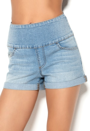 Bubbleroom / H Shorts Ljus denim Bubbleroom.se