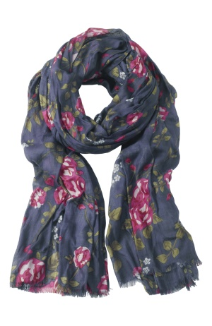 Happy Holly Scarf Blå/Rosa Bubbleroom.se