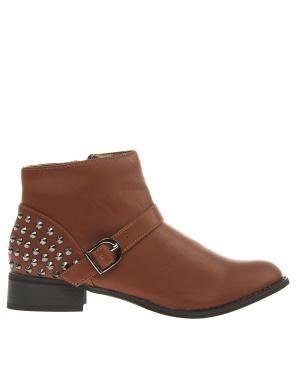 Have2have Boots med nitar, Eveline Brun Bubbleroom.se