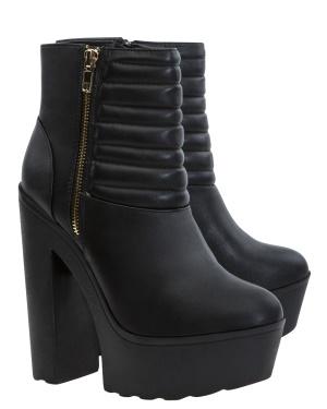Have2have Boots med platåsulor, Helin Svart Bubbleroom.se