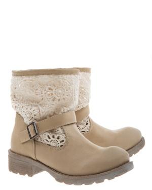 Have2have Boots med virkat skaft, Evelyn Beige Bubbleroom.se