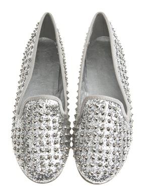Have2have Glittrande loafers, Maria Silverglitter Bubbleroom.se