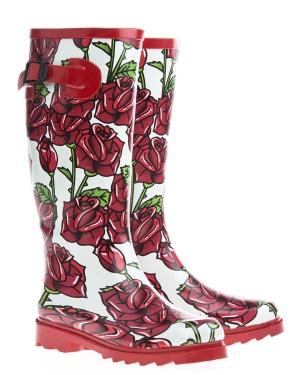 Have2have Gummistövlar, Roses Röd, vit och grön Bubbleroom.se