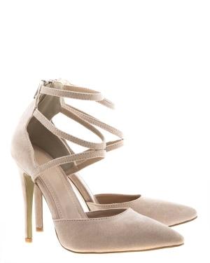 Have2have Högklackade skor med tunna remmar, Julia Beige Bubbleroom.se