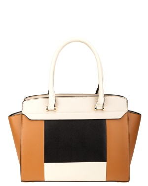 Have2have Handväska Cassandra Brun svart beige One size