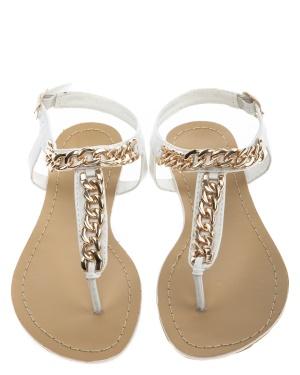 Have2have Sandaler med guldkedja, Stina Vit Bubbleroom.se