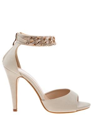 Have2have Sandaletter med guldkedja, Chainy Beige Bubbleroom.se