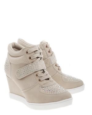 Have2have Sneakers med kilklackar, Kylie Beige Bubbleroom.se