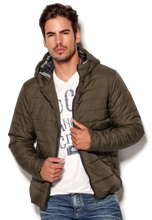 JACK&JONES Boom Puffer JKT ORG Forest Night Bubbleroom.se