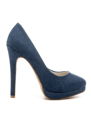 Shoes By Teddy Jane Blue Denim 40 thumbnail