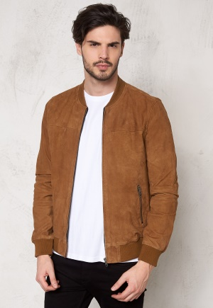 JACK&JONES Leather 2 Jacket Bone Brown XL thumbnail