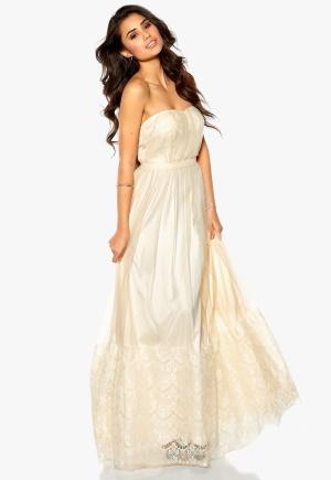Model Behaviour Sanna Maxi Dress Offwhite Bubbleroom.se