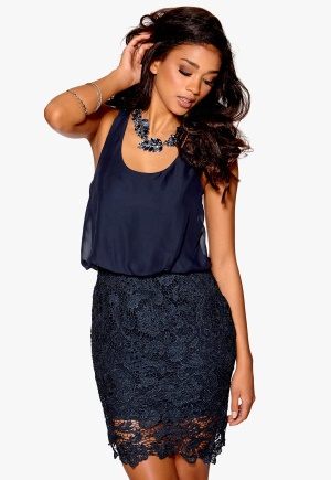 Model Behaviour Emma Dress Midnight Blue M thumbnail