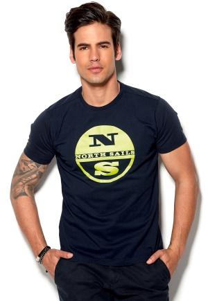 North Sails Stampa T-shirt V1 Navy Bubbleroom.se