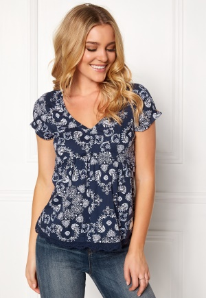 Odd Molly Medley S/S Blouse Dark Blue XL (4) thumbnail