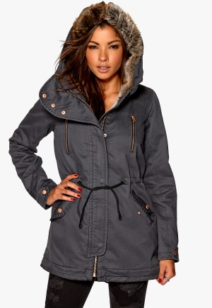 ONLY Jane Canvas Parka OTW Asphalt Bubbleroom.se