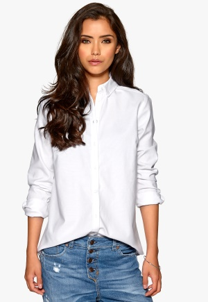 ONLY Oxford LS Shirt White Bubbleroom.se