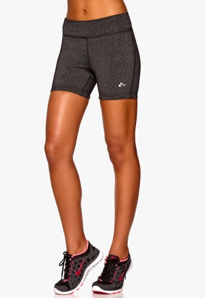 ONLY PLAY Bianca Training Shorts Dark Grey Melange Bubbleroom.se