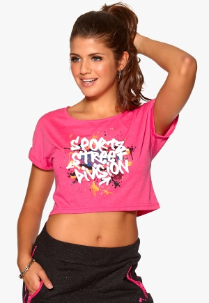 ONLY PLAY Rachelle Cropped Tee Pink Glo Bubbleroom.se