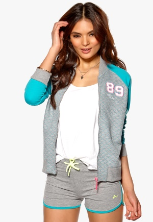 ONLY PLAY Summer College Sweat Light Grey Melange 1 Bubbleroom.se