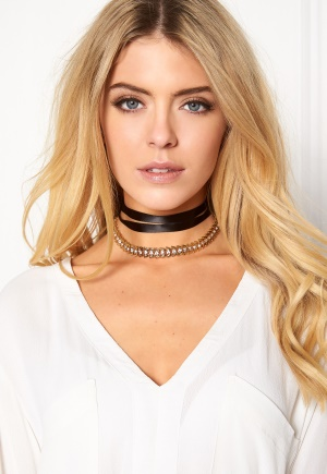 Pixie & Diamond Ladies Choker Black/Gold One size thumbnail