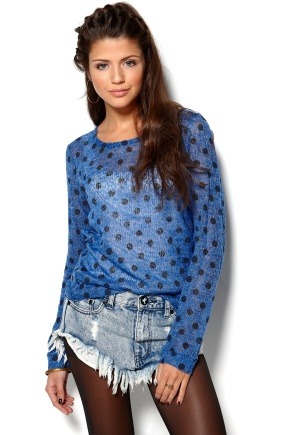RUT&CIRCLE Bea Dot Knit Spicy Blue Bubbleroom.se