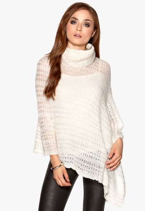 RUT&CIRCLE Price Bea Poncho Wool white Bubbleroom.no