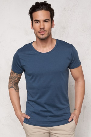SELECTED HOMME Pima New Dave ss T-shirt Insignia Blue XL