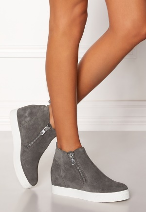 Steve Madden Wedgie Sneaker Shoes Grey Suede 40 thumbnail