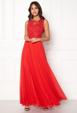 SUSANNA RIVIERI Embroidery Pearl Dress Red 36 thumbnail