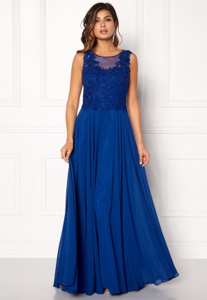 SUSANNA RIVIERI Embroidered Chiffon Dress Royal 44 thumbnail