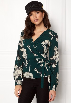 VILA Floppy L/S Wrap Top Pine Grove XS thumbnail