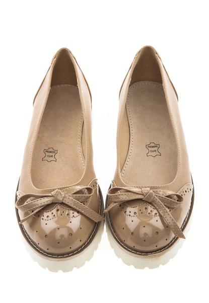 Have2have Loafers med vit gummisula, Crystal Beige Bubbleroom.se