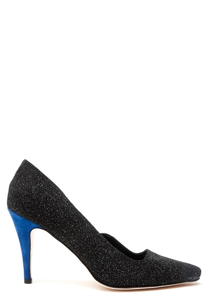 Minimarket Horizon Pump Glitter Black, Blue Bubbleroom.se