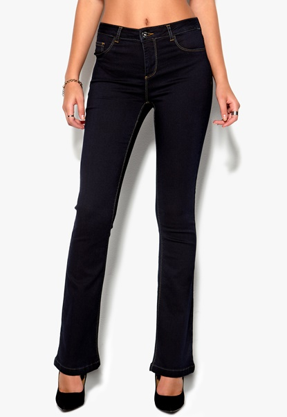 b.young Palmy Pants 80941 Dark Blue Bubbleroom.se