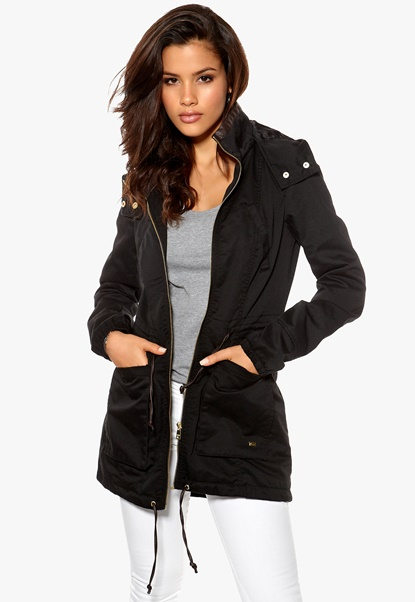 ONLY Olga Spring Parka Black Bubbleroom.se