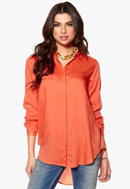 Rut & Circle Lara Shirt 947 Fresh Coral Bubbleroom.se