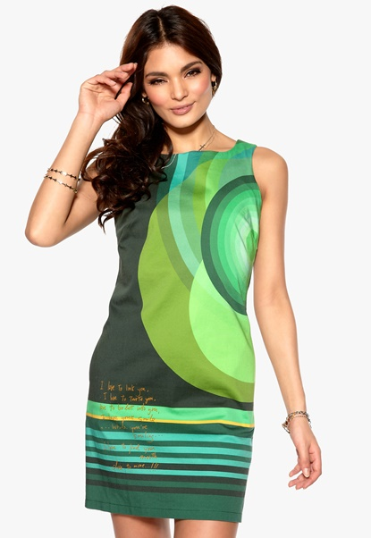 Desigual Cuba Dress Verde Botella Bubbleroom.se