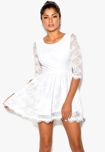 Chiara Forthi Beata Dress White Bubbleroom.se