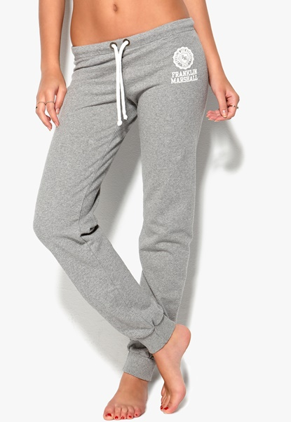 Franklin & Marshall Pants Grey Melange Bubbleroom.se