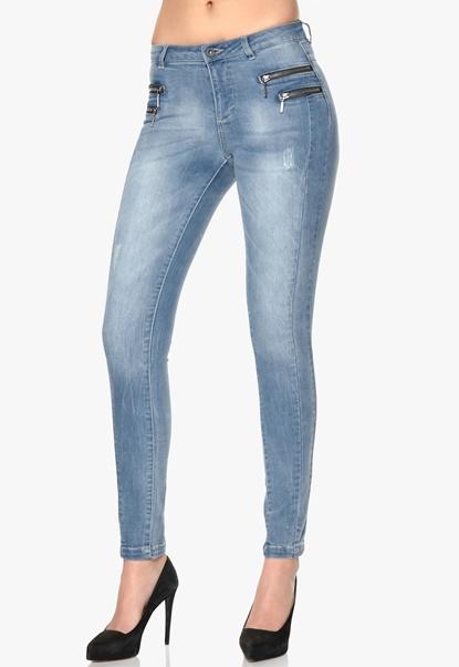 ONLY Olivia Skinny Jeans Medium Denim Blue Bubbleroom.se
