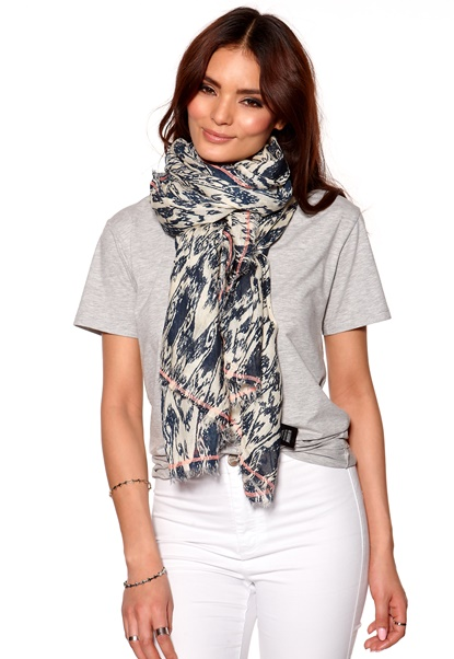 Pieces Sherrya Long Scarf Midnight Blue Bubbleroom.se