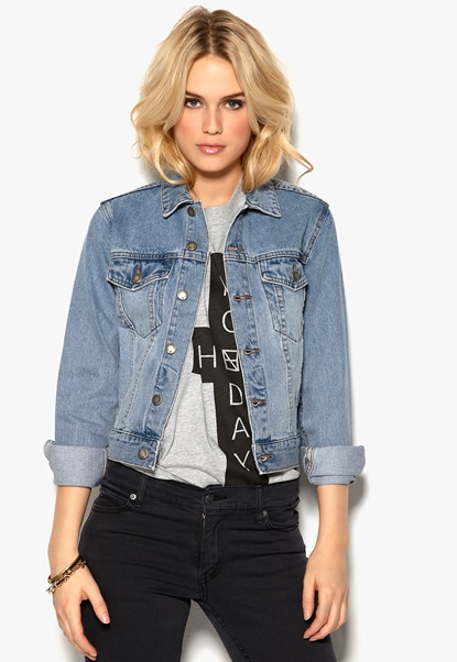 CHEAP MONDAY Vital Denim Jacket Blue Bubbleroom.se