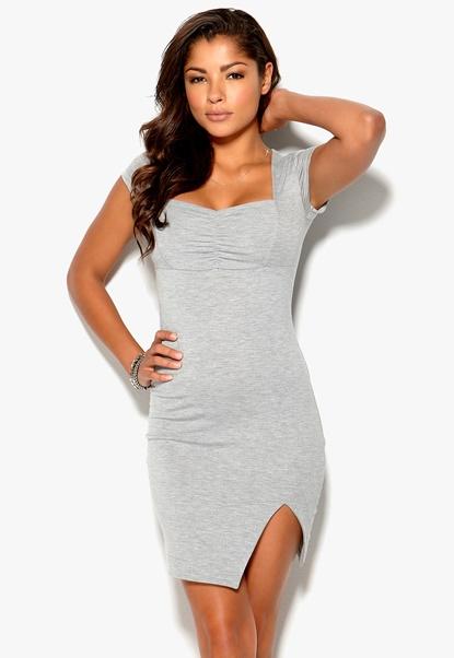 Chiara Forthi Sapphire Dress Greymelange Bubbleroom.se