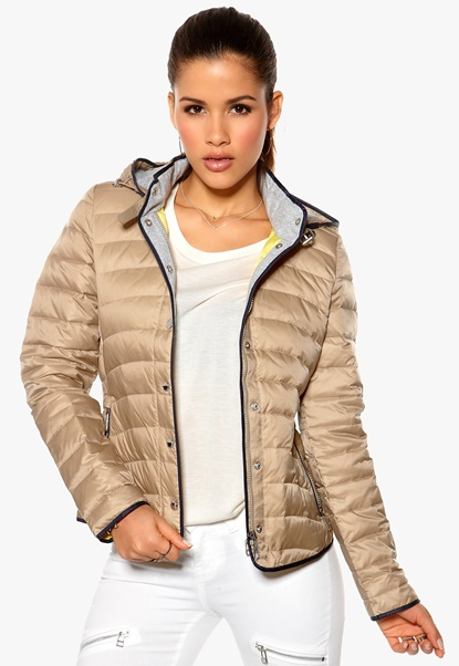 TOMMY HILFIGER Hollie Down Hooded Jacket Classic Taupe Bubbleroom.se