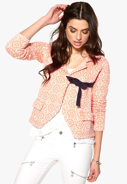 Odd Molly Lovely Knit Jacket Bright Orange Bubbleroom.se